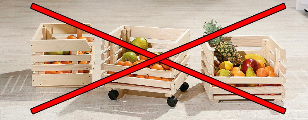 деревянные ящики для хранения овощей и фруктов яблок и картошки